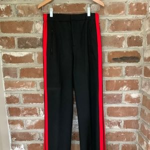 Zara Striped Pant Black and Red Size XS